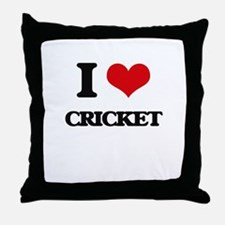 I Love Cricket Throw Pillow