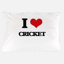 I Love Cricket Pillow Case
