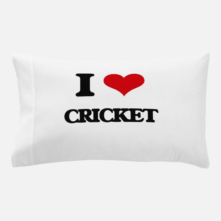 I Love Cricket Pillow Case