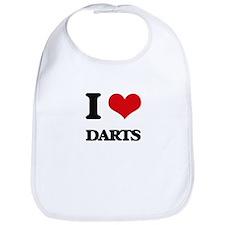 I Love Darts Bib