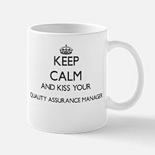 Keep calm and kiss your Quality Assurance Man Mugs