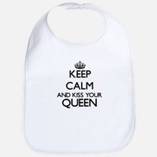 Keep calm and kiss your Queen Bib