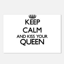 Keep calm and kiss your Q Postcards (Package of 8)