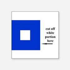 """Cute Navy code flags Square Sticker 3"""" x 3"""""""