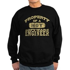 Property of a Hot Software Engin Sweatshirt