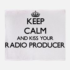 Keep calm and kiss your Radio Produc Throw Blanket