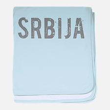 Cool Serbia baby blanket