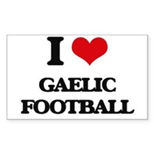 I Love Gaelic Football Stickers