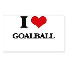 I Love Goalball Decal