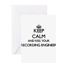 Keep calm and kiss your Recording E Greeting Cards