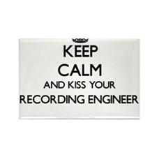 Keep calm and kiss your Recording Engineer Magnets