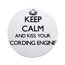 Keep calm and kiss your Recording Ornament (Round)