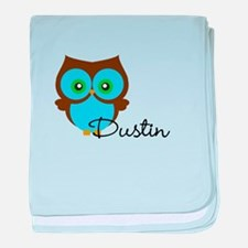 Name Owl baby blanket