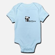 Name Panda Infant Bodysuit