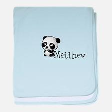 Name Panda baby blanket