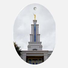 LDS San Antonio Texas Temple Ornament (Oval)