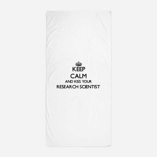 Keep calm and kiss your Research Scien Beach Towel