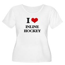I Love Inline Hockey Plus Size T-Shirt
