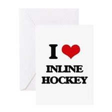I Love Inline Hockey Greeting Cards