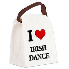 I Love Irish Dance Canvas Lunch Bag