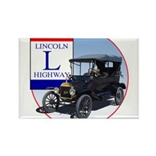Cute Lincoln highway Rectangle Magnet