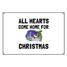 Hearts Come Home For Christmas Banner