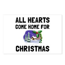 Hearts Come Home For Christmas Postcards (Package
