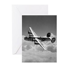 Cute B airplane Greeting Cards (Pk of 20)