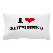 I Love Kitesurfing Pillow Case