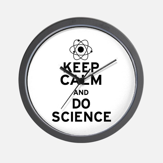 Keep Calm Do Science Wall Clock