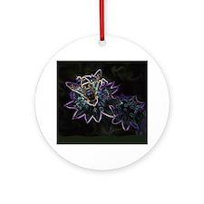 Drone Flower Glow - Round Ornament
