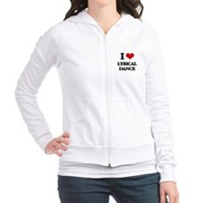 I Love Lyrical Dance Fitted Hoodie