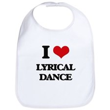 I Love Lyrical Dance Bib