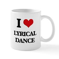I Love Lyrical Dance Mugs