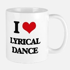 I Love Lyrical Dance Mugs