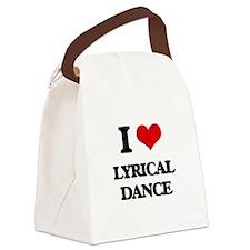 I Love Lyrical Dance Canvas Lunch Bag