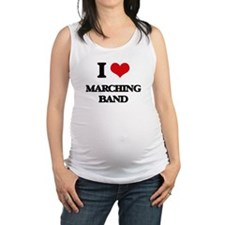 I Love Marching Band Maternity Tank Top