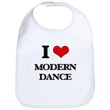 I Love Modern Dance Bib
