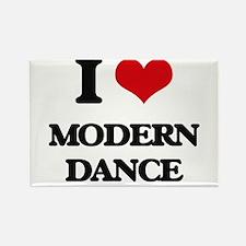 I Love Modern Dance Magnets