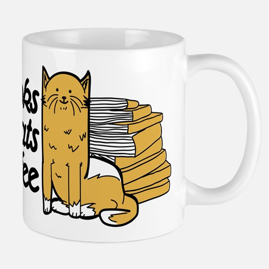 Books & Cats & Coffee Mug