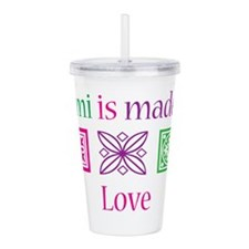 Mimi is made of Love Acrylic Double-wall Tumbler