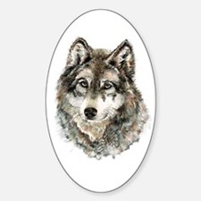 Watercolor Grey Gray Wolf Animal Nature Decal