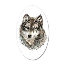 Watercolor Grey Gray Wolf Wall Decal