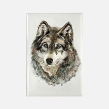 Watercolor Grey Gray Wolf Animal Nature Magnets