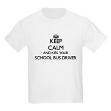 Keep calm and kiss your School Bus Driver T-Shirt