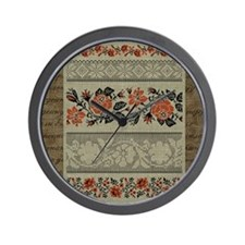 Ukrainian Embroidery Wall Clock