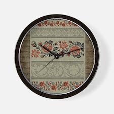 Ukrainian Embroidery Wall Clock