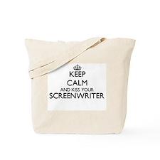 Keep calm and kiss your Screenwriter Tote Bag