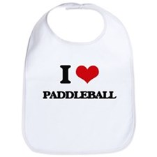 I Love Paddleball Bib