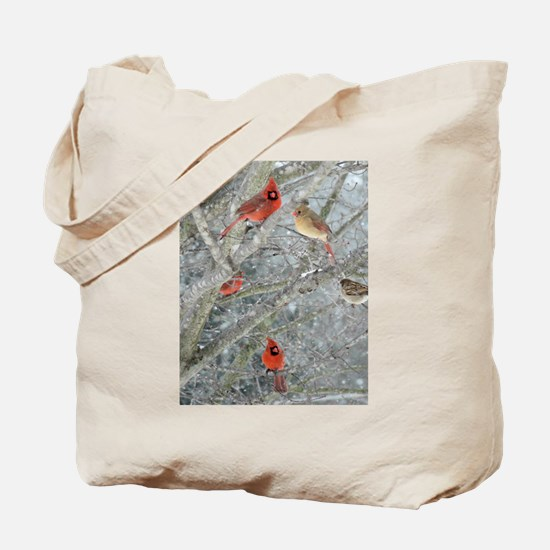 Cardinal Winter Tote Bag